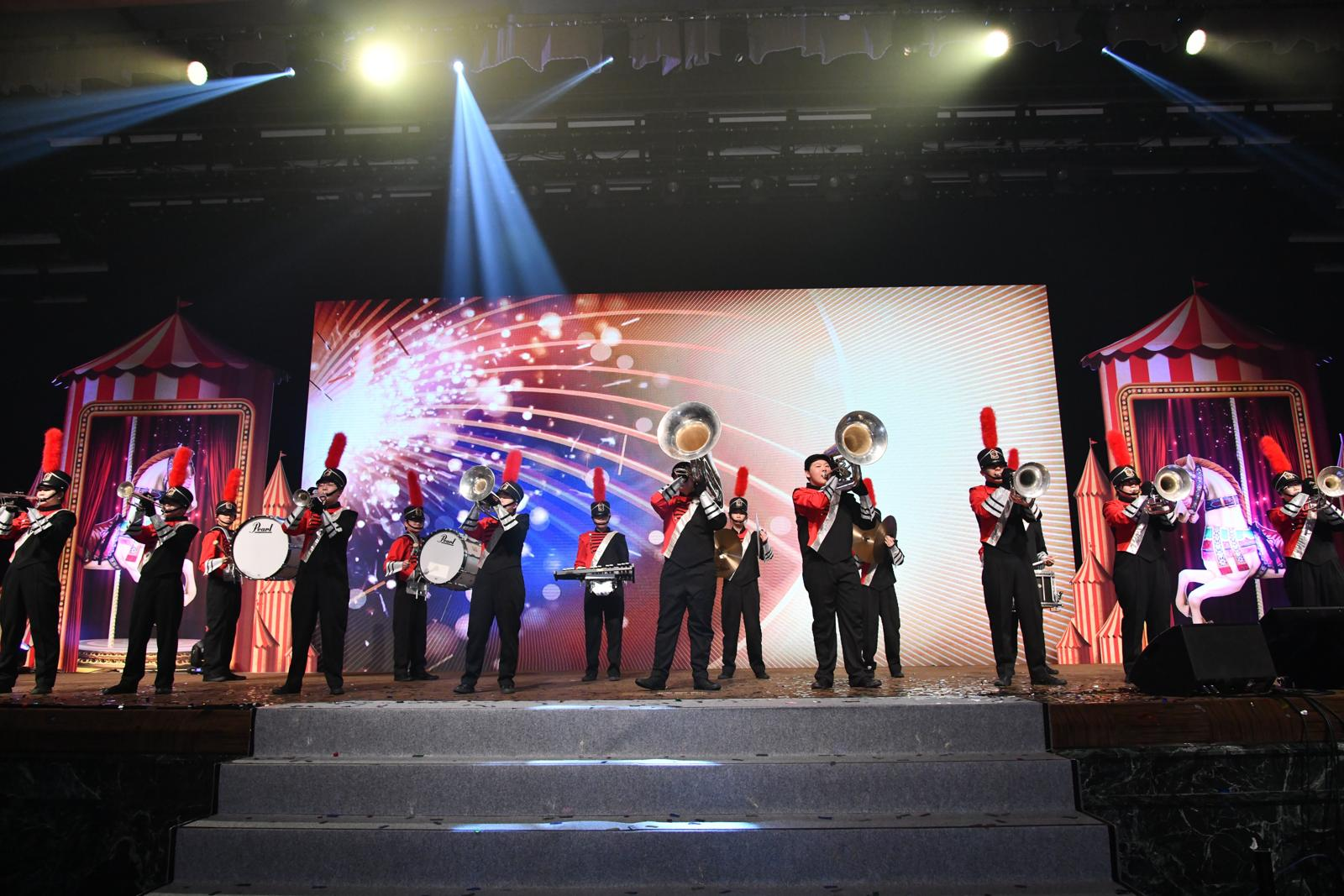 The performance of our Magic Marching Band in the annual ball of BNP PARIBAS